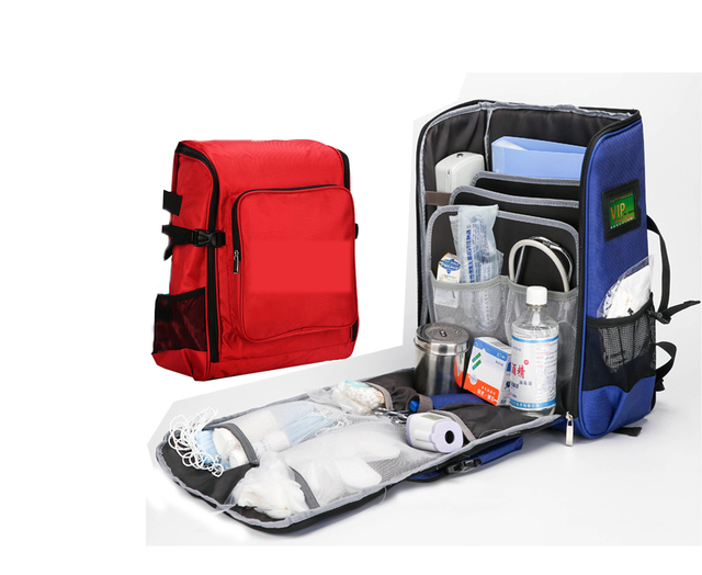 Bearhoho Empty Backpack First Aid Kit Bag Lightweight Emergency Medical Rescue Outdoors Car Luggage School Hiking