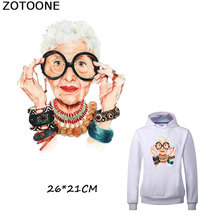 ZOTOONE European Style Fashion Heat Transfer Stickers for Girl Top Household Iron-on Patches DIY Decoration Applique Shirt A