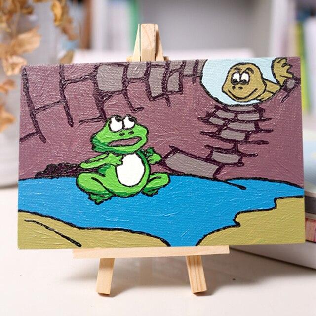 Niños diy rana colorante colorear por números Pintura Al Óleo por ...