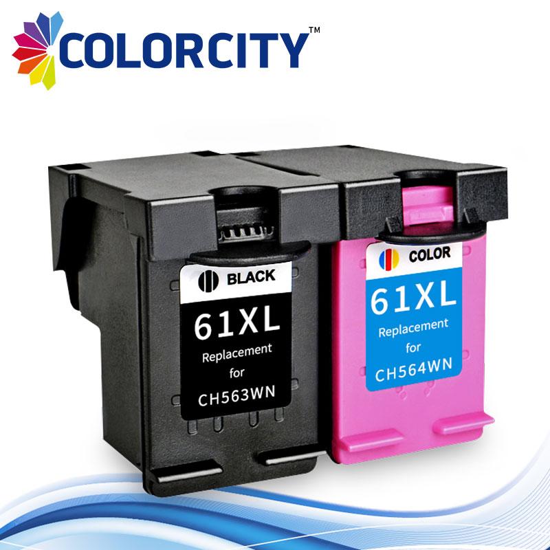 Black /& Color Lot 61 XL 61XL Ink Cartridge for HP Deskjet 2000 2050 2510 2512