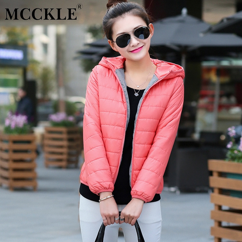 MCCKLE Plus Size Hooded Autumn Winter Jacket For Women 2018 Fashion Korean Female Solid Thick Short Padded Ladies Outwear Parkas