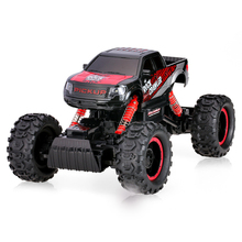 2017 New remote control Rock Crawler car 1:14 scale 2.4G 2CH rc electric toy climbing truck Off-road RC Car with LED Light
