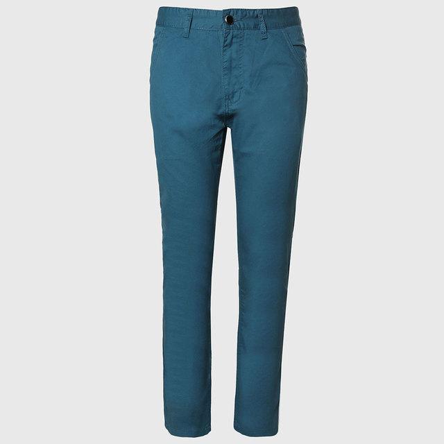 Pantalones casuales Pantalones Masculinos Pantalones de Algodón Hombres Pantalones de Trabajo Para Hombre Medias Flaco Pantalones de Ocio
