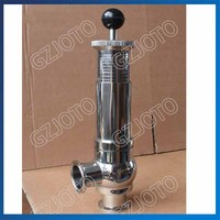 Sanitary Food safety Relief Valve Manual Stainless Steel Safety Valve