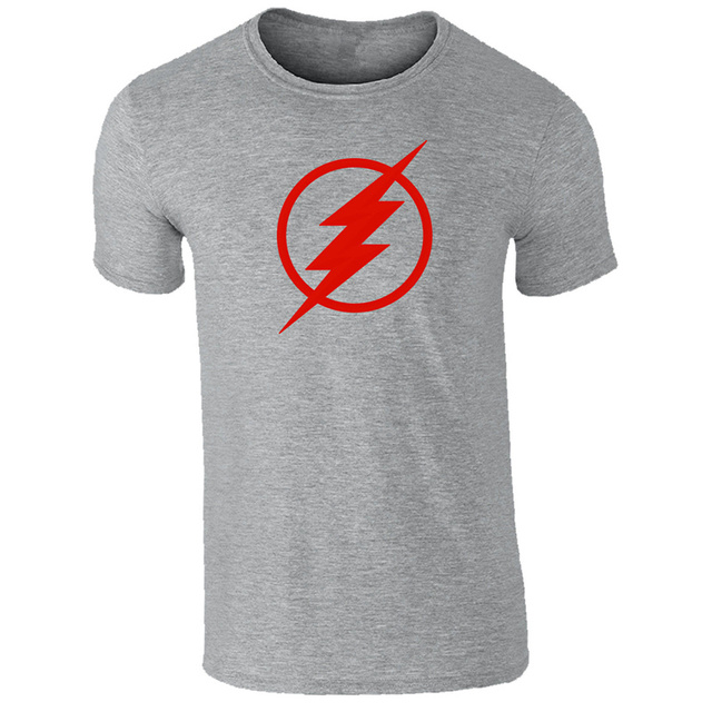 T Shirt Design Printer Short The Flash Logo Crew Neck Printed Tee For Men 639922247