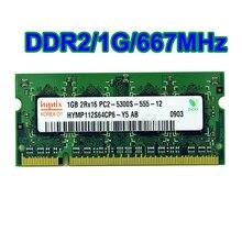 1 ГБ HYMP112S64CP6 DDR2 PC2-5300 Памяти Ноутбука (2×1 ГБ, 2 Г) DDR2 200PIN SODIMM 667 МГц RAM 5L