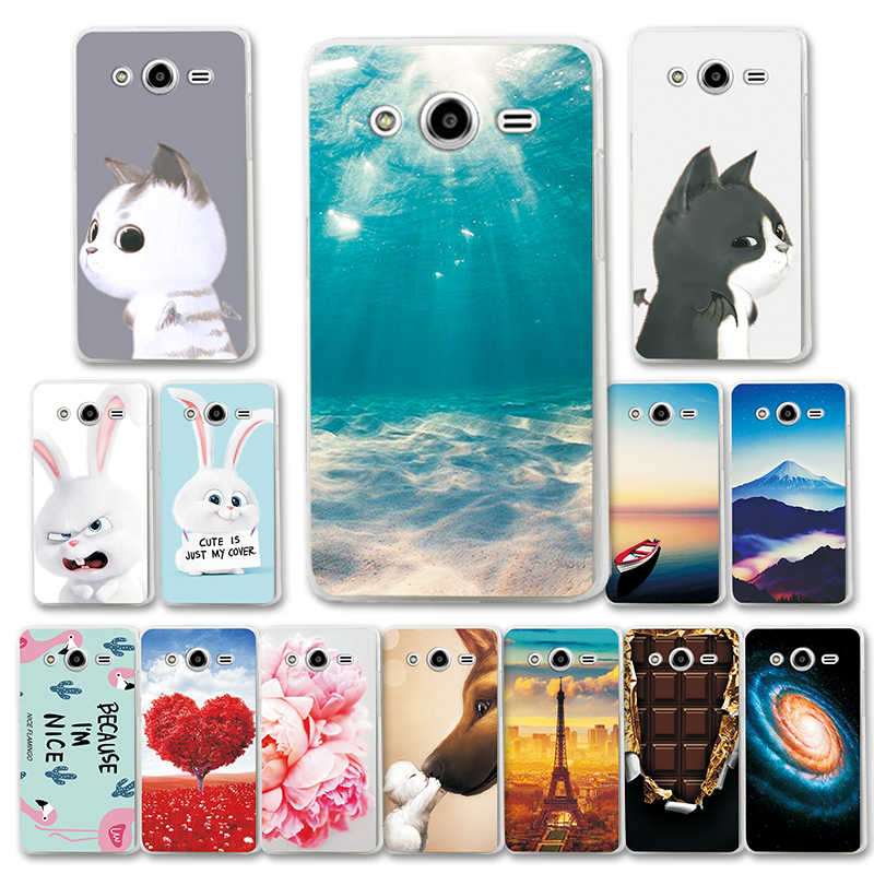 "For Samsung Galaxy Core 2 Duos SM-G355H Dual Fashion Phone Case Back Cover For Samsung G355H 4.5"" Cute Cat G3559 Various Capa"