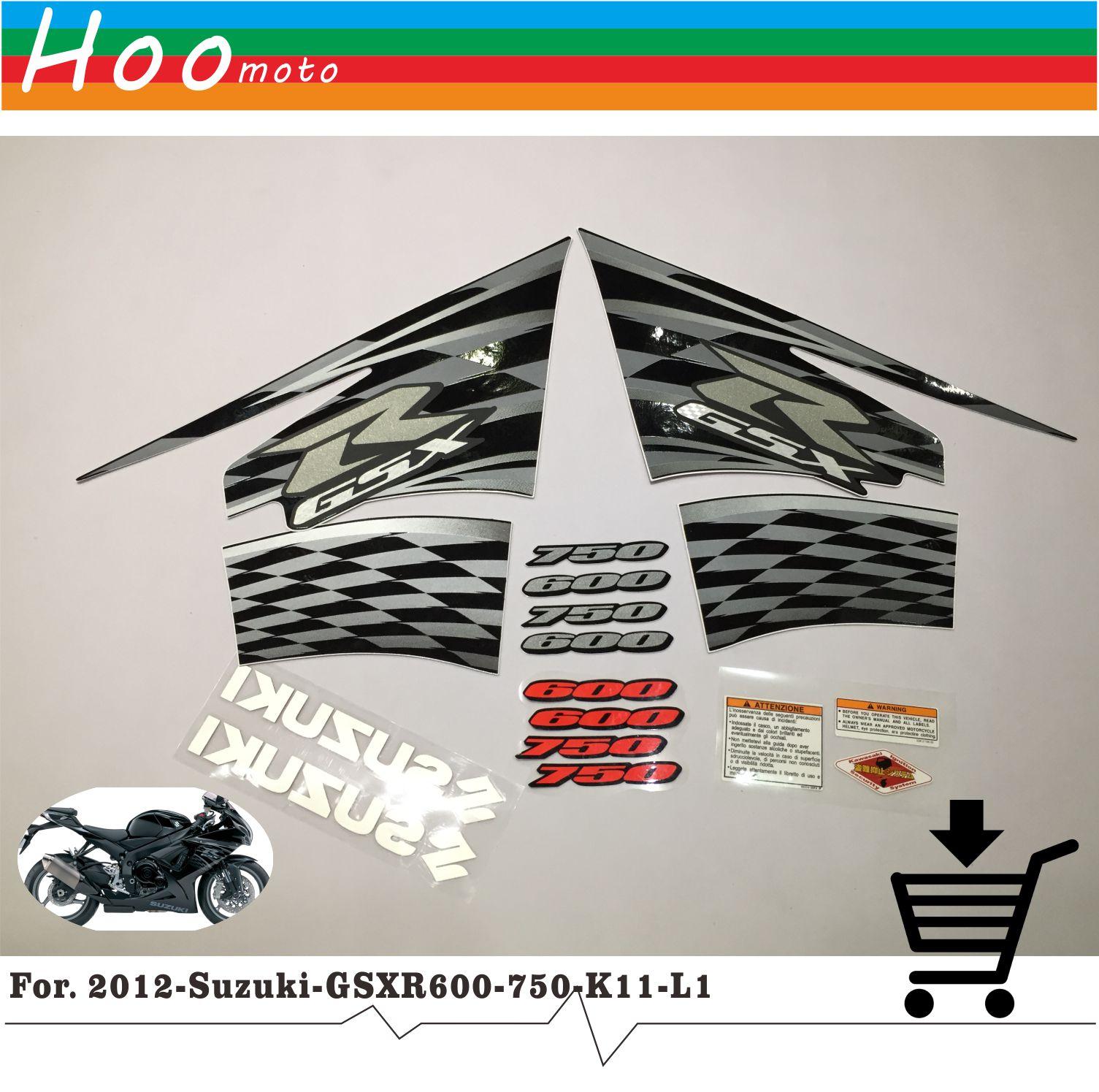 Для 2012 Suzuki gsx-r GSX R 600 750 K11 L1 наклейки Стикеры Высокое качество наклейки Стикеры мотоциклетные автомобиль-Стайлинг Стикеры s MOTO
