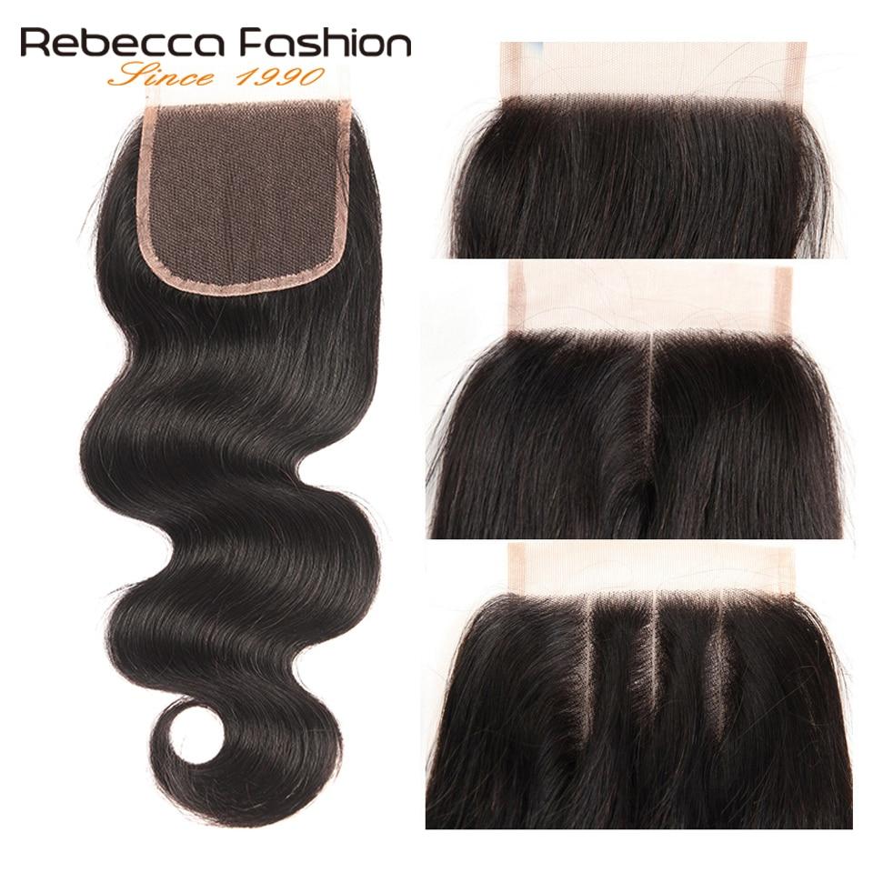 Rebecca Olmayan Remy Perulu Vücut Dalga Kapatma Ile Insan Saç - Kuaför Salonları Için Donatım - Fotoğraf 5