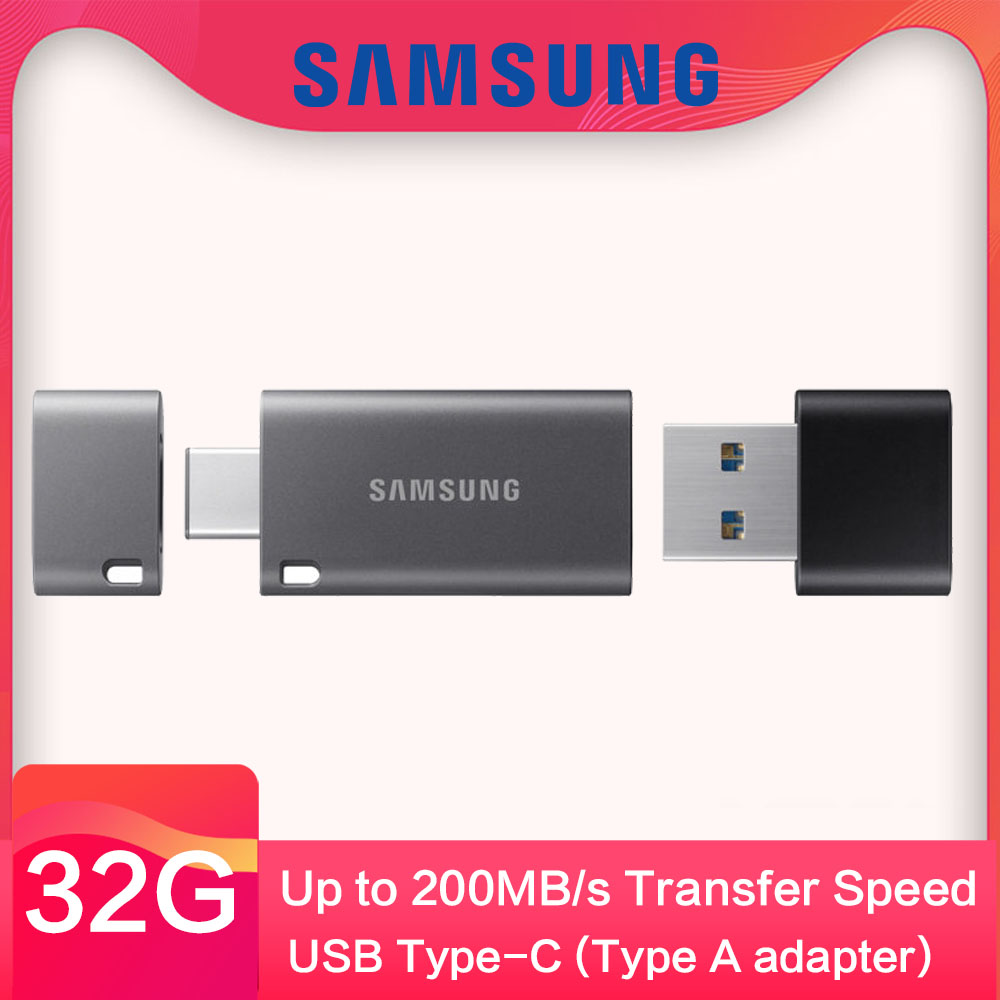 Samsung USB 3.1 Flash Drive 32GB 64g Speed Up to 300MB/S Memory Stick Pendrive Type C USB 128g Pen Drive for Laptop mobile phone