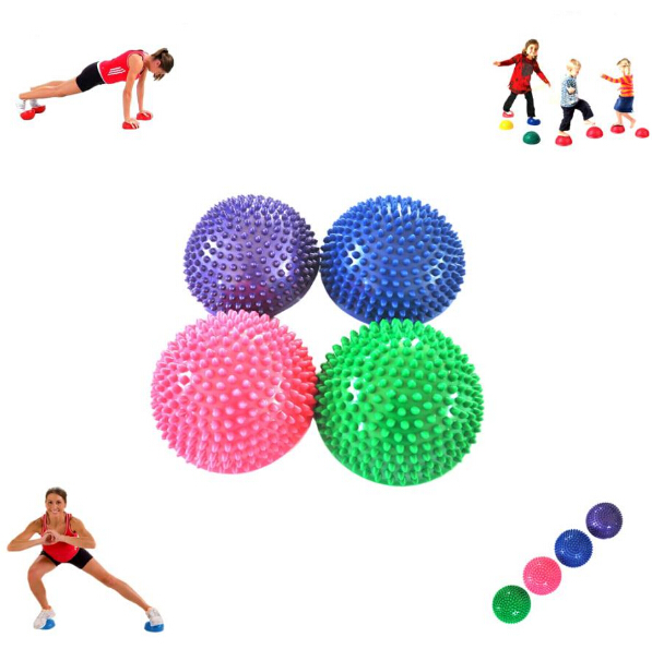 Yoga Half Ball Fitness Equipment Kids Elder Durian Massage Mat Exercise Balance Point Gym Yoga Pilates Ball arm muscle fitness equipment electronic hand grips gyro power ball flash wrist ball