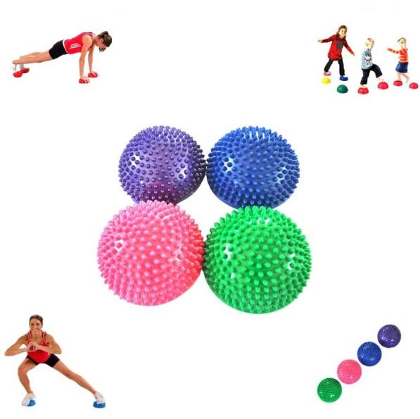 Yoga Half Ball Fitness Equipment Kids Elder Durian Massage Mat Exercise Balance Point Gym Yoga Pilates Ball