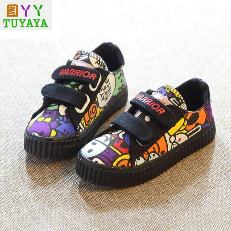 8e2339792517 Denim Jeans Boys Sneakers Kids Girls Shoes New 2018 Brand Autumn Smail  Canvas Breathable Casual Rubber Sole Children Shoes