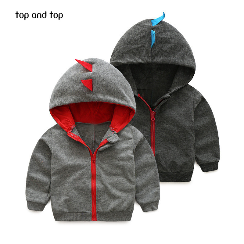 baby Boys Dinosaur Hoodies Children Hoodies Boys Spring Autumn Coat Kids Long Sleeve Casual Outwear Baby Clothing Boys' Hoodies