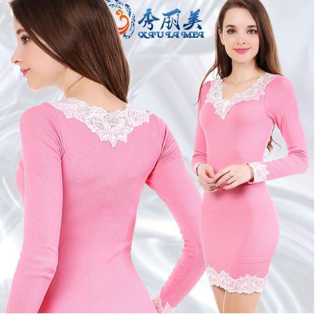 9de738c877d02 US $16.75 |winter women dress Slim thin package hip casual lace sexy dress  vestidos femininos clothing plus size roupas femininas Q352-in Dresses from  ...