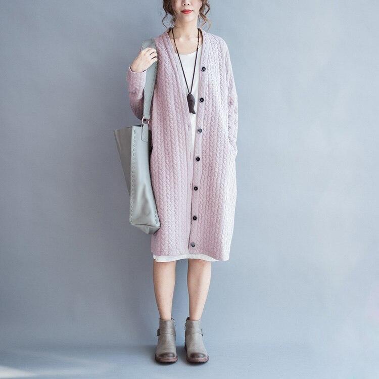 Automne femmes à manches longues coton manteaux simple bouton lâche Outwear noir rose hiver femme Plus manteaux dossier coton vêtements