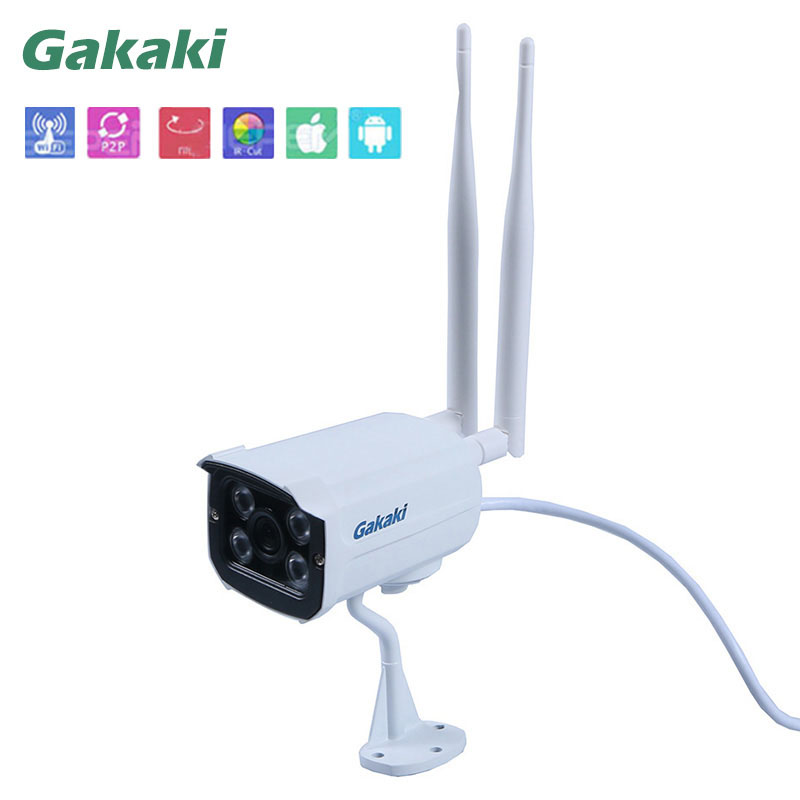 GaKaKi Outdoor 960P Bullet IP Camera Dual Antenna P2P Motion Detection Waterproof Security Night Vision Surveillance CCTV Camera seven promise 720p bullet ip camera wifi 1 0mp motion detection outdoor waterproof mini white cctv surveillance security cctv