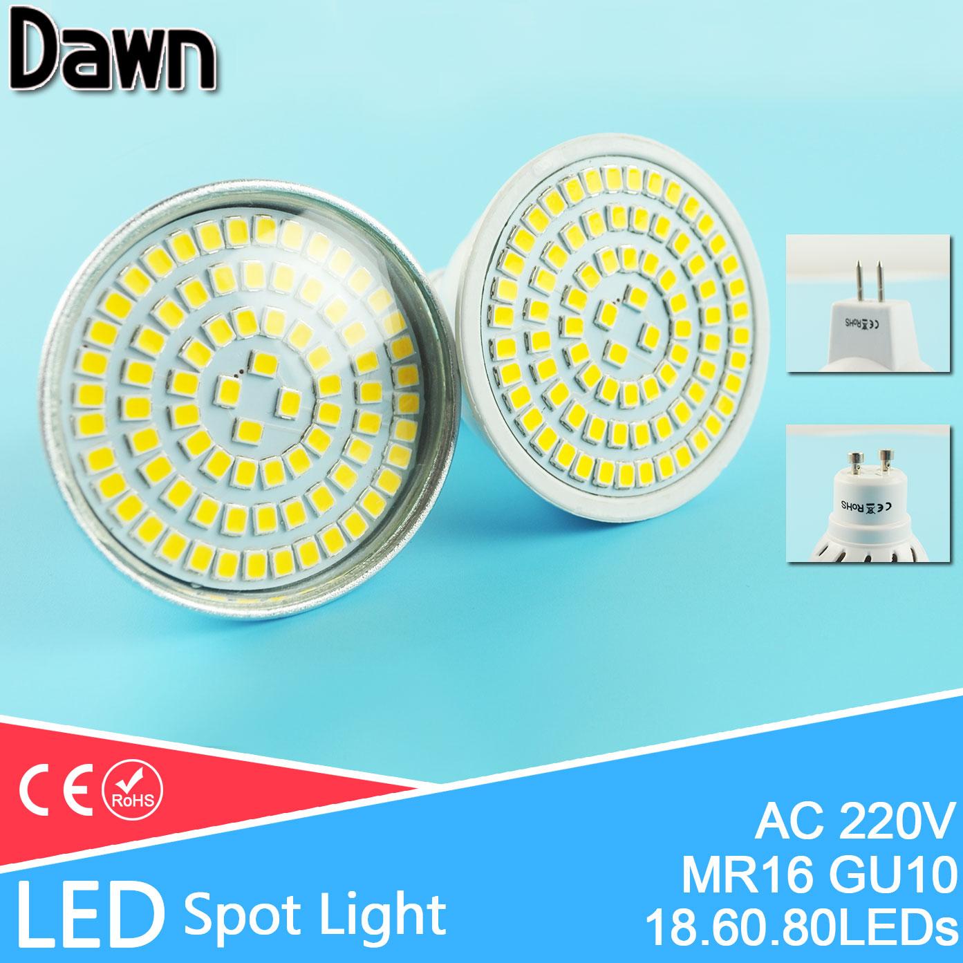 LED Spotlight Bulb Bombilla LED GU5.3/MR16 GU10 AC 220V 4W 6W 8W 9W SMD 5730/2835 Spot Light Bulb Lampada Ampoule Lamp Lampara