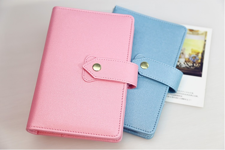 PU leather spiral loose leaf refillable journal candy color notebook filofax time planner agenda notepad binder A6 blue pink цена