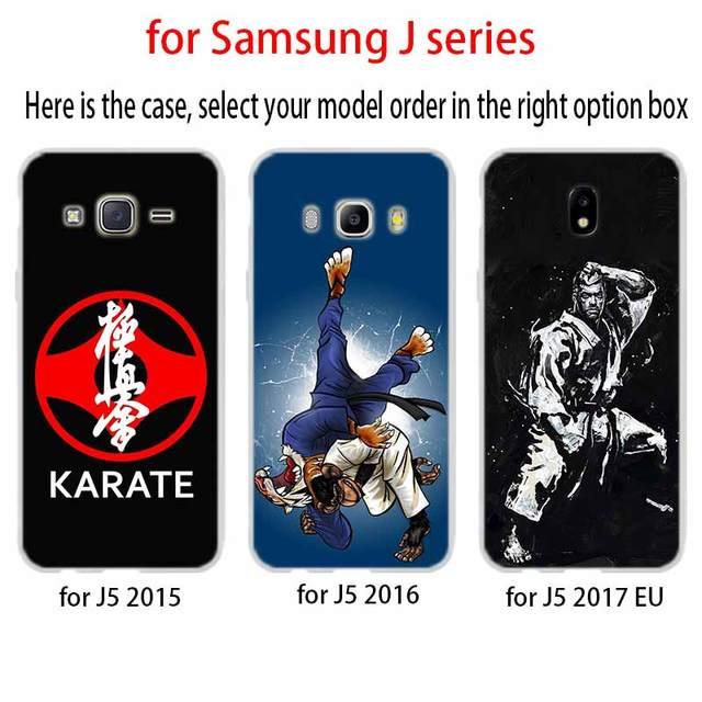 Kyokushin karaté symbole pour Coque de téléphone Samsung Galaxy j6 J8 J7 J5 J3 J4 Plus 2018 2017 2016 J610 Prime Coque en Silicone souple