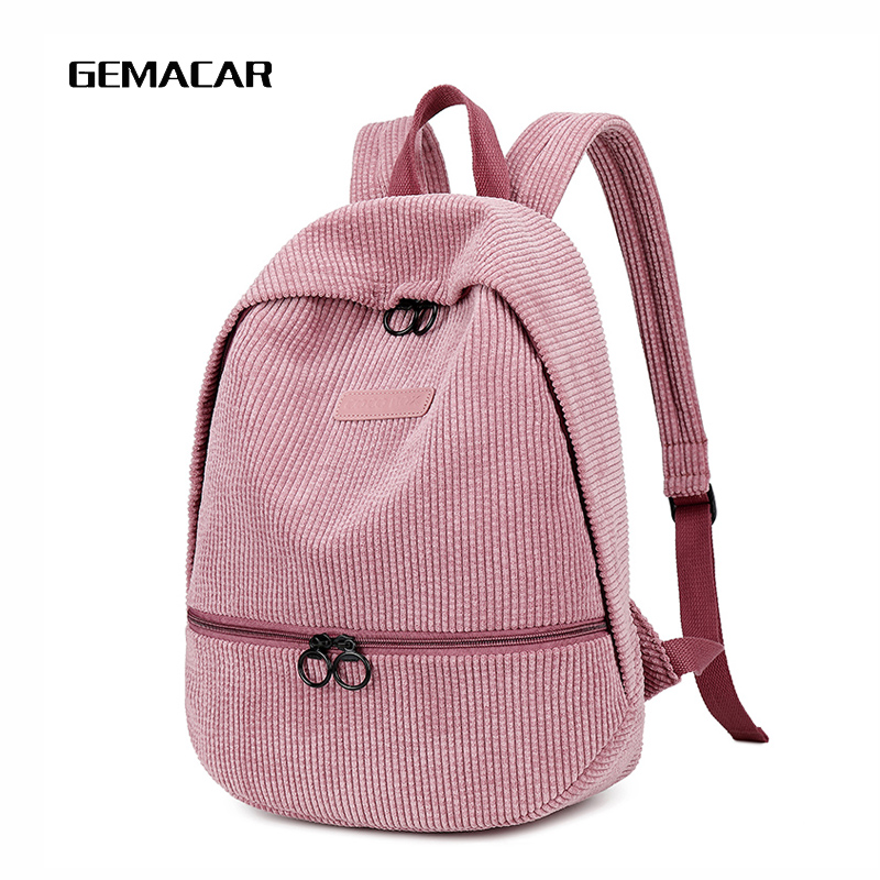 Winter Pop Backpack Lady Leisure Work Bag Young Girl Cute Bright Color Student Shopping Travel