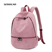 Winter Pop Backpack Lady Leisure Work Bag Young Girl Cute Bright Color Backpack Student Shopping Travel Backpack