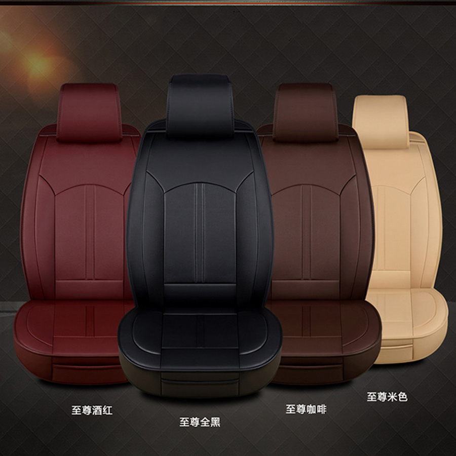 1PC Car Front Seat Mat Covers 6D Full Surrounded PU Leather Breathable Cushion Pad Set Universal in Automobiles Seat Covers from Automobiles Motorcycles