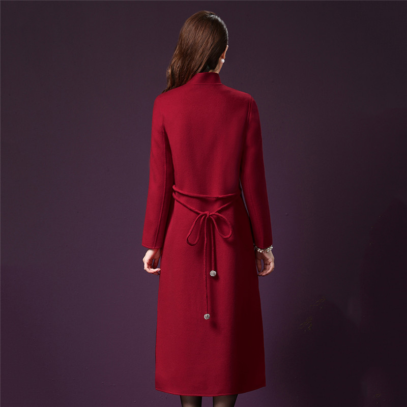 Solide Couleur Mediun Dt0094 D'âge Femmes Laine Mince Manteau Grand Nouvelle De Automne Veste Taille Mode Longue Moyen Élégant qqB8nOw6