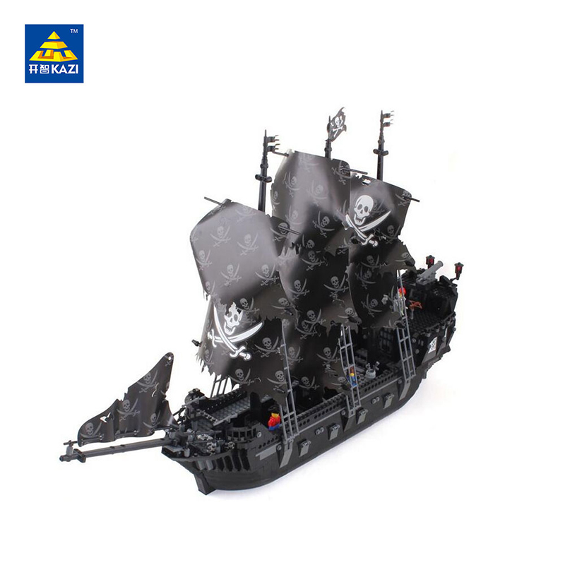 2017 KAZI 87010 1184pcs building bricks Pirates of the Caribbean the Black Pearl Ship model Toys for Children Compatible lepin lepin 16006 804pcs pirates of the caribbean black pearl building blocks bricks set the figures compatible with lifee toys gift