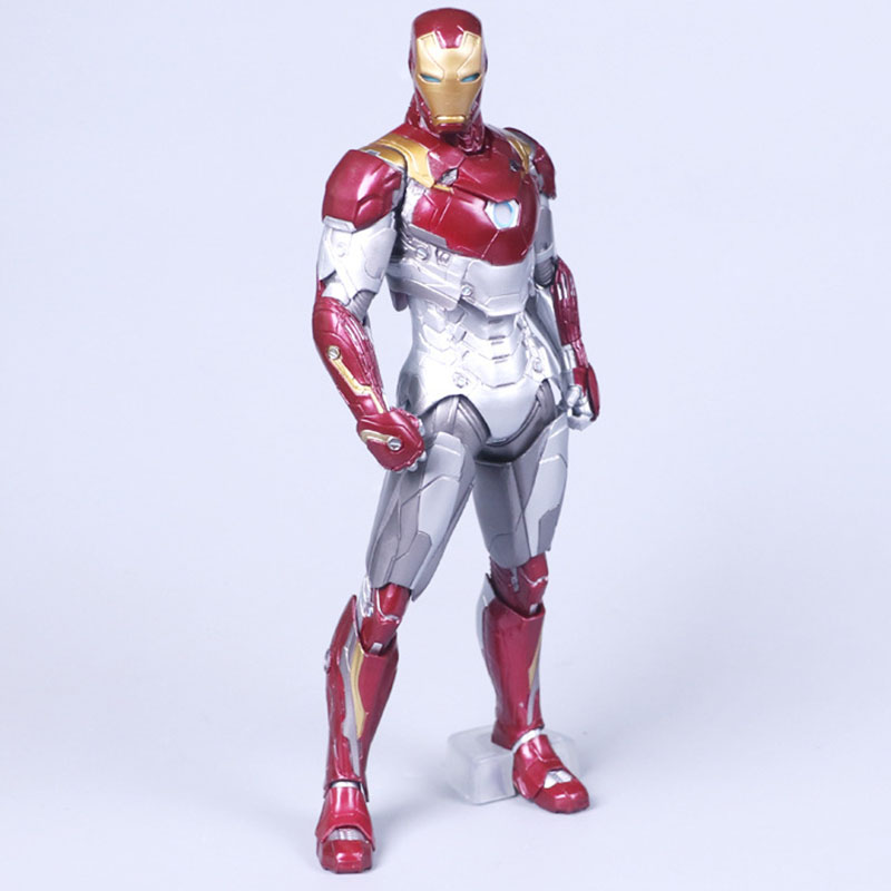 27cm Mk47 Iron Man Spiderman Homecoming Movie Figures Action Toy Figures One Piece Mask Action Figure Pvc Avengers Model 30