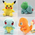 2017 Brand New  Fashion Plush Toy Pikachu & Squirtle & Charmander & Bulbasaur 4PCS/lot  Movies & TV Toys