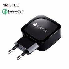 Magcle 18 Вт быстрое зарядное устройство 3,0 EU/US 5 в 100 А поддержка QC3.0 настенное зарядное устройство для samsung Xiaomi huawei LG USB зарядное устройство шт./лот