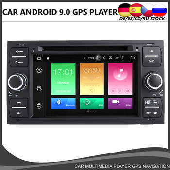 Octa core Android 10.0 Car DVD GPS Player For Ford Transit Focus Kuga C-MAX S-MAX Fiesta 4GB+64GB Wifi Radio Bluetooth DVR DAB+