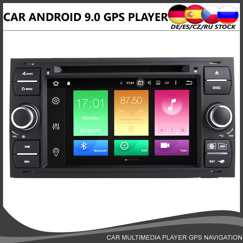 Octa core Android 10.0 Car DVD <font><b>GPS</b></font> Player For <font><b>Ford</b></font> Transit Focus Kuga <font><b>C</b></font>-<font><b>MAX</b></font> S-<font><b>MAX</b></font> Fiesta 4GB+64GB Wifi Radio Bluetooth DVR DAB+ image