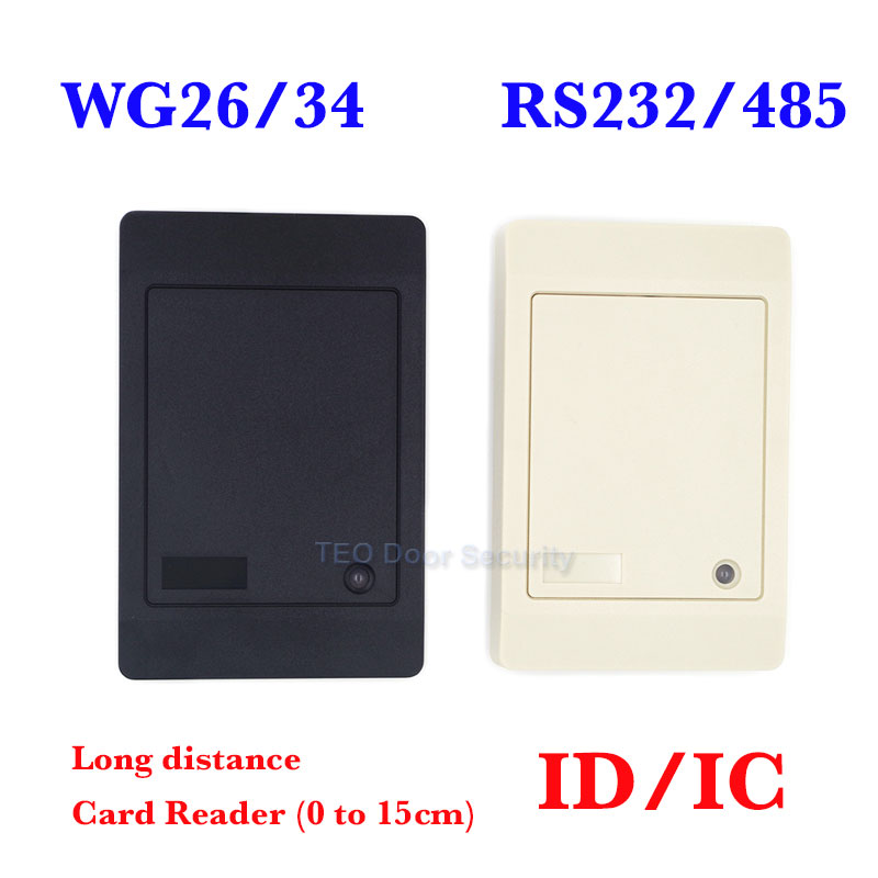 Proxi RFID Card Reader Without Keypad WG26/34 Access Control RFID Reader RF EM Door Access Card Reader Customized RS232/485 waterproof hot selling for rfid card reader access control system identification card reader with wg26 34 f1683
