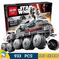 933 unids star wars nuevo 05031 clon tanque turbo at-rt modelo building blocks juguetes para niños ladrillos compatible con lego
