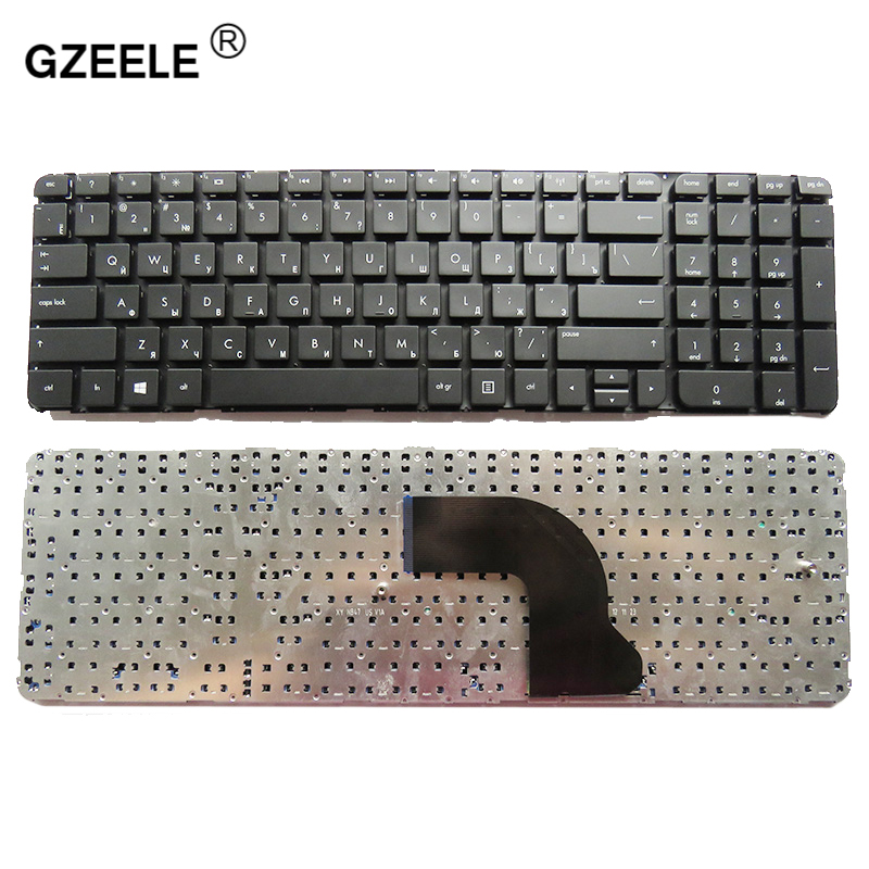 Russian laptop Keyboard for HP Pavilion DV7 7000 DV7 7100 dv7t 7000 dv7 7200 dv7 7001EM RU NSK CJ0UW without frame 670323 251-in Replacement Keyboards from Computer & Office on