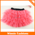 2014 New Baby Girls Pettiskirts Tutu Princess Skirts Baby Girl Clothes Water Melon Red Color Skirt For 3-12t Free Shipping