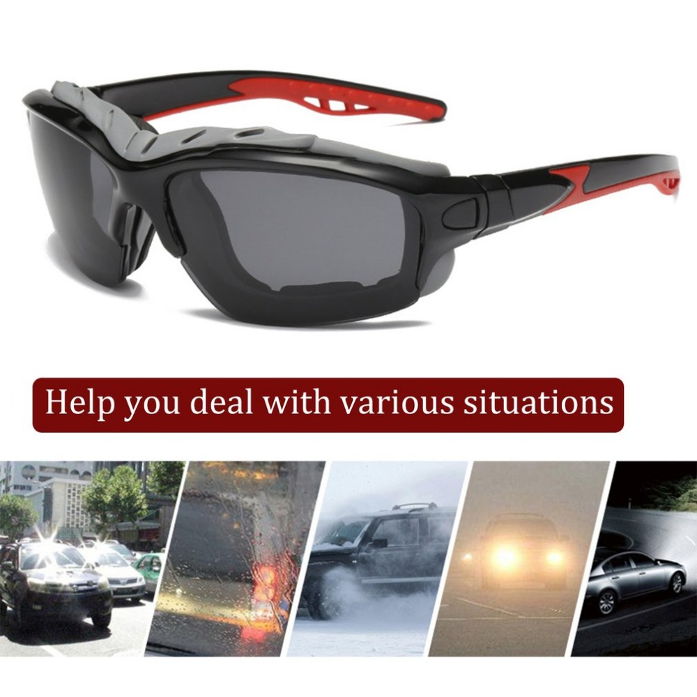 Polarized 1028 Sport Driving Sunglasses Clear Lens Motorcycle / Off-Road Motorcycle / Racing / Bicycle Transparent Lens Goggles folding transparent pc lens safety motorcycle goggles