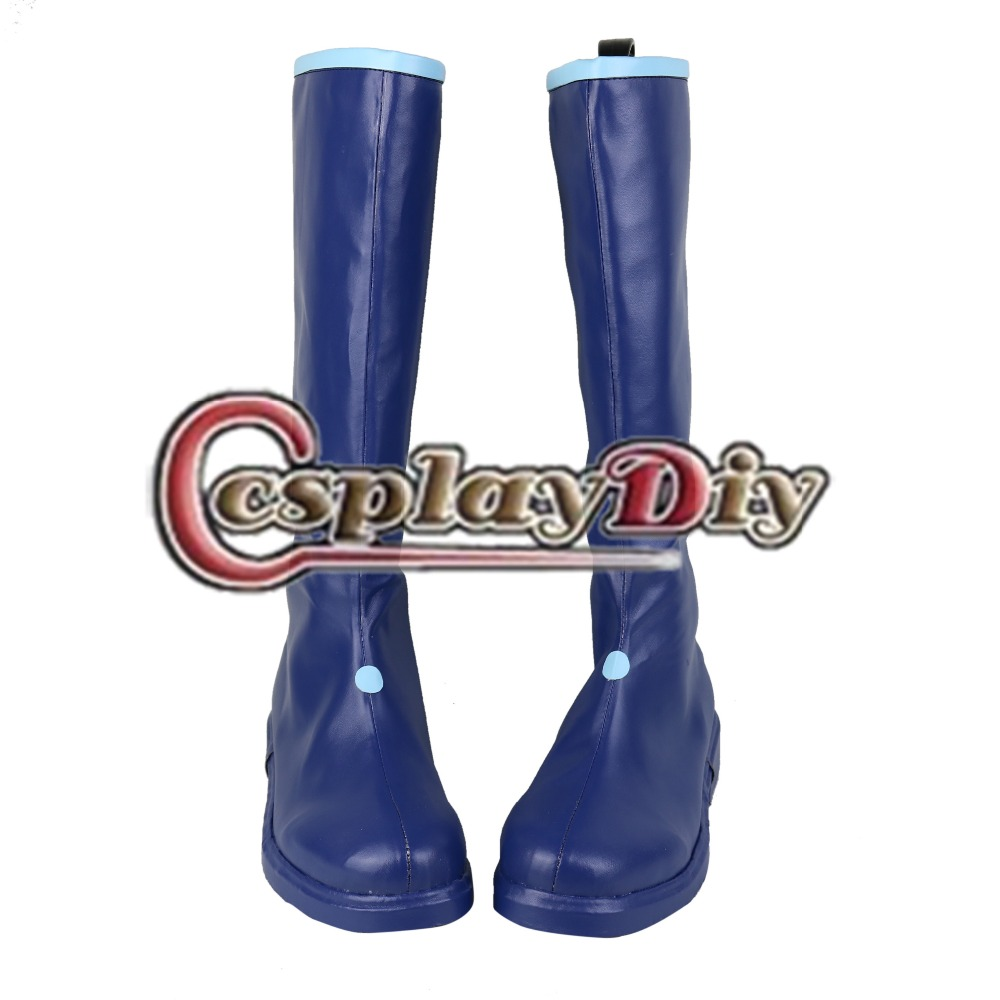 ФОТО Vocaloid Kaito Cosplay Boots Shoes Adult Women Girls Cosplay Accessories Custom Made