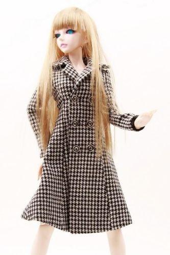 [wamami] 600# Plaid Coat/Clothes 1/4 MSD DOD BJD Dollfie [wamami] 130 pink clothes dress 1 4 msd dod aod bjd dollfie free shipping
