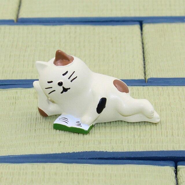 Decole Black Cat Bear Hedgehog Miniature figurine Japan Zakka Animal Home Decoration Garden Resin craft toy Bonsai Ornaments 5