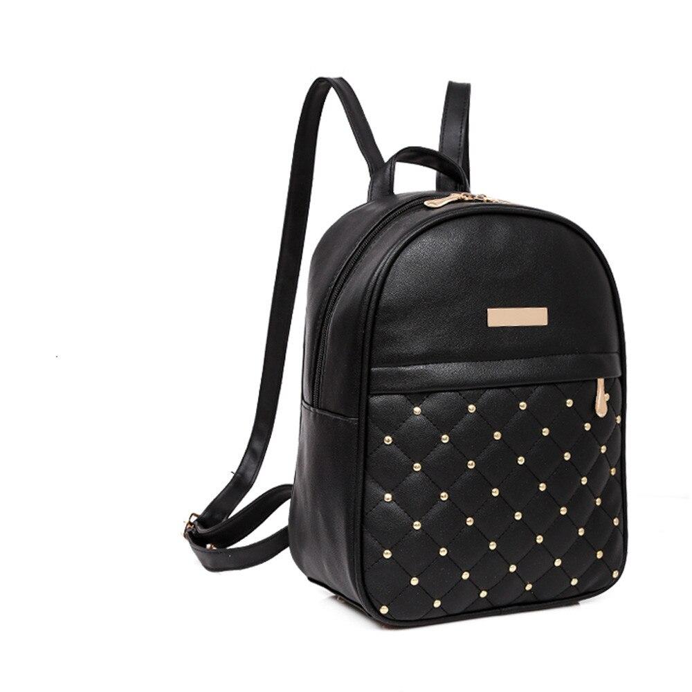 HTB1YKWLLMHqK1RjSZFPq6AwapXaj OCARDIAN Woman packet Fashion Causal Bags Bead Female Shoulder Bag Backpacks Women Rivet Backpack dropship 19M12