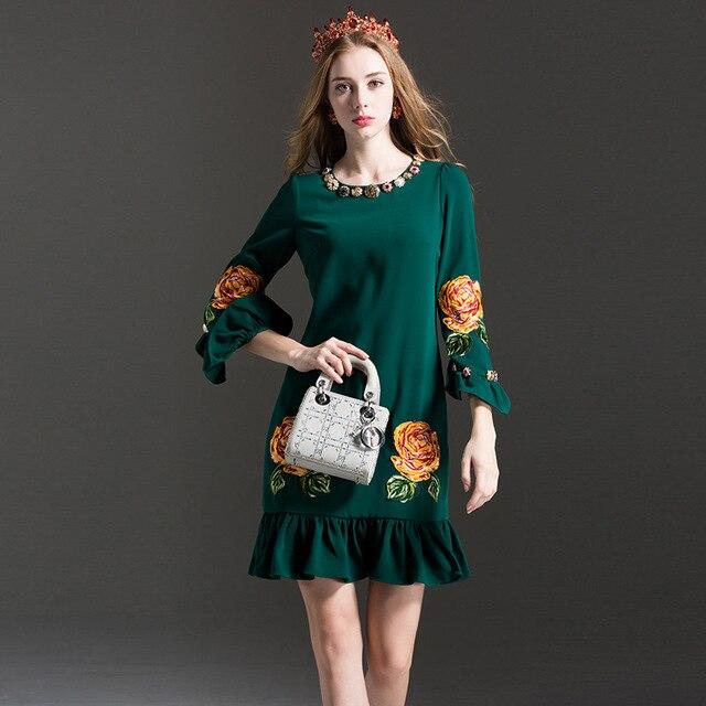 Modelos de vestidos elegantes manga larga