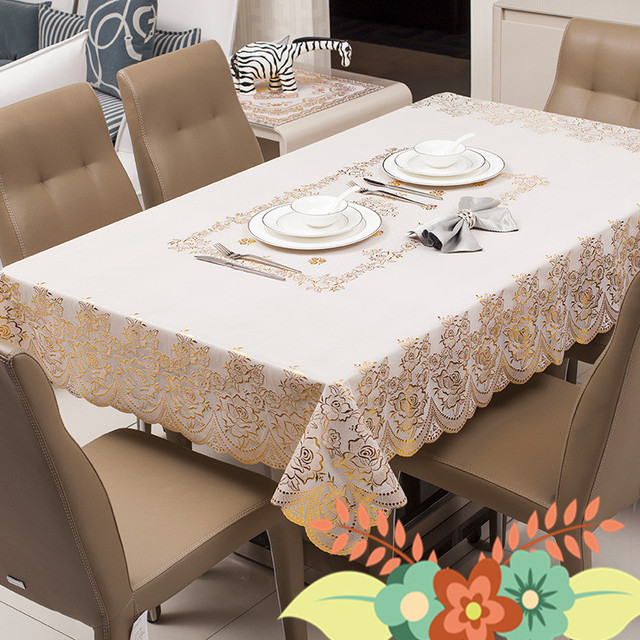 New Fashion Hot European Clic Style Oilproof Table Cloth Home Coffee Restaurant Hotel Tablecloth Cover