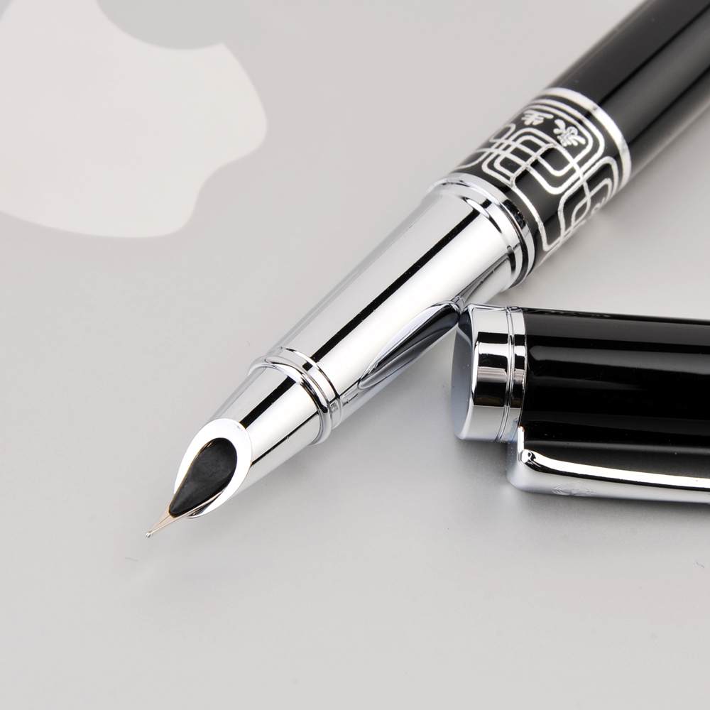Wingsung 9102 Extra Fine Nib 0.38mm Fountain Pen for Finance Luxury Metal Ink Pens Office Supplies School Supplies Birthday Gift hero 310b metal fountain pen