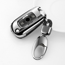 Folding Soft TPU Car Key Case  For Buick Verano 15S/20T 2019 Excelle gl6 sedan Styling Set Cover Shell