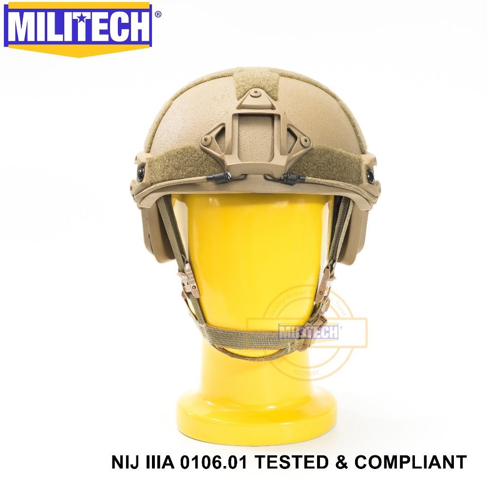 ISO Certified 2019 New MILITECH CB NIJ Level IIIA 3A FAST High XP Cut Bulletproof Aramid Ballistic Helmet With 5 Years Warranty