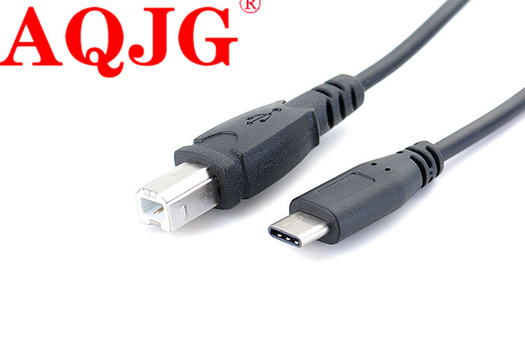 1M Type-c Male To USB B Male Connector Date Cable For OTG Smart Android Phone Tablet Computer Keyboard Electric Piano Printer