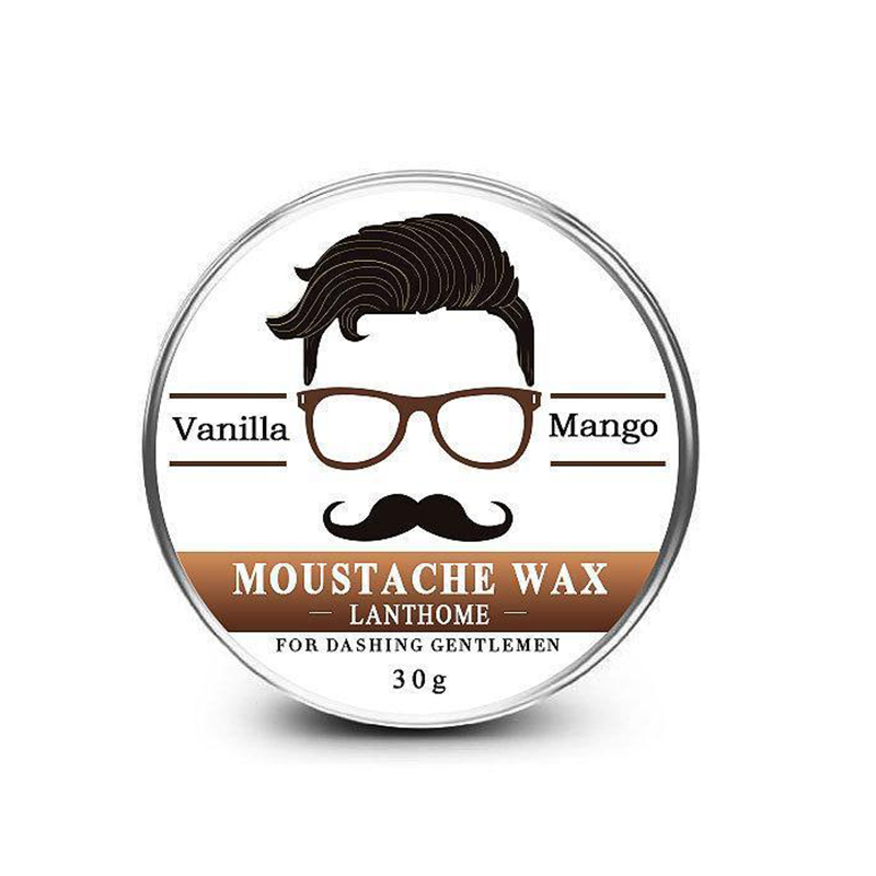 Natural Conditioning Softener Beeswax Moustache Wax 30g Beard Balm Beard Conditioner Leave in Styling Aftershave For Men 4